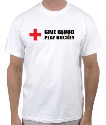 give-blood-play-hockey-white-tshirt